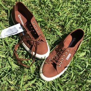 Superga brown sneakers
